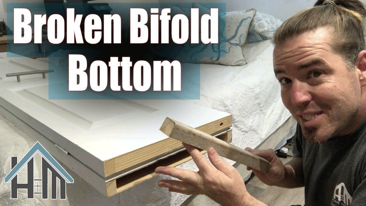 How To Repair Broken Bifold Door Top Or Bottom Easy In 2020 Bifold Doors Bifold Repair