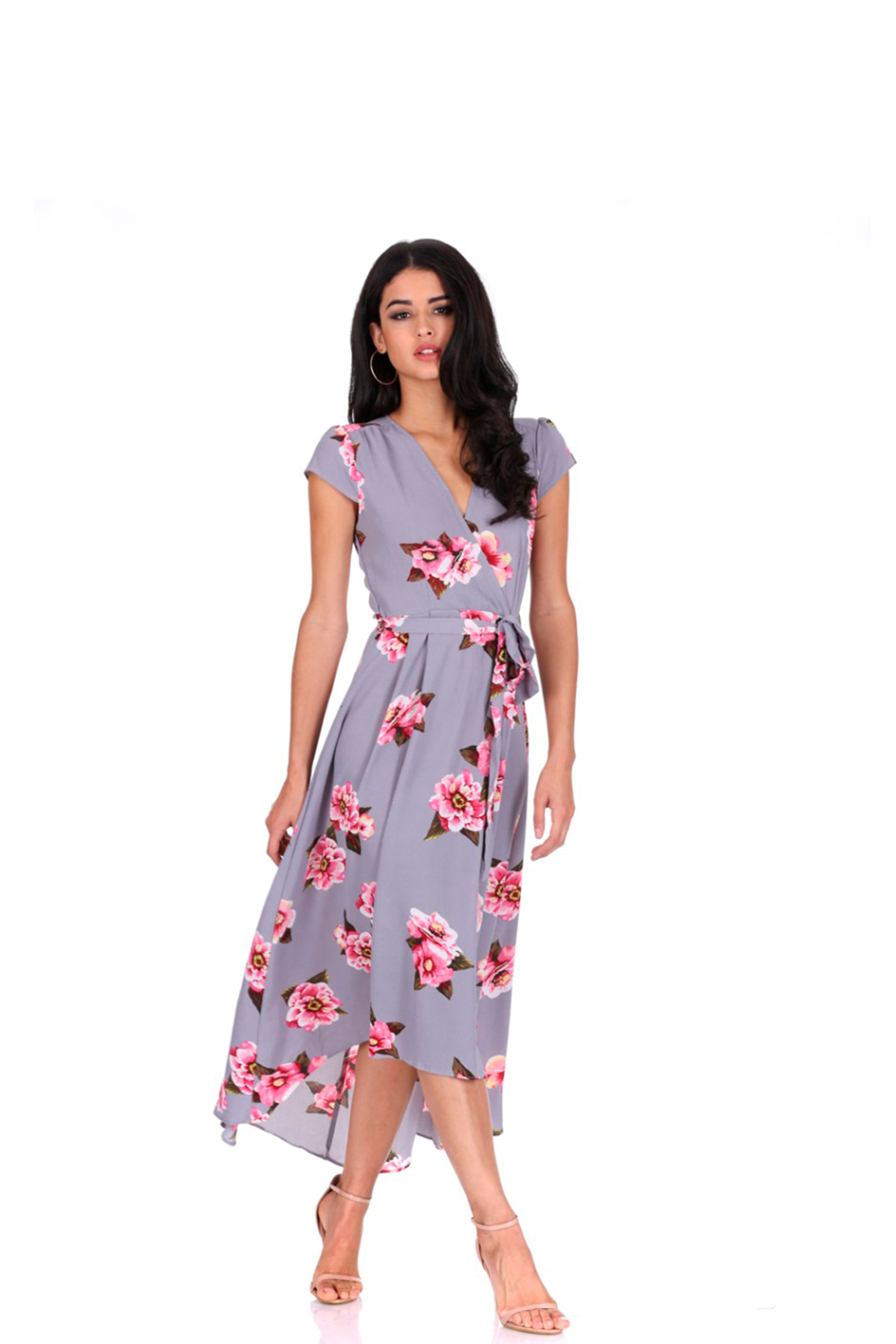 a97012c481e Ax Paris Navy Floral Print Midi Dress - Gomes Weine AG