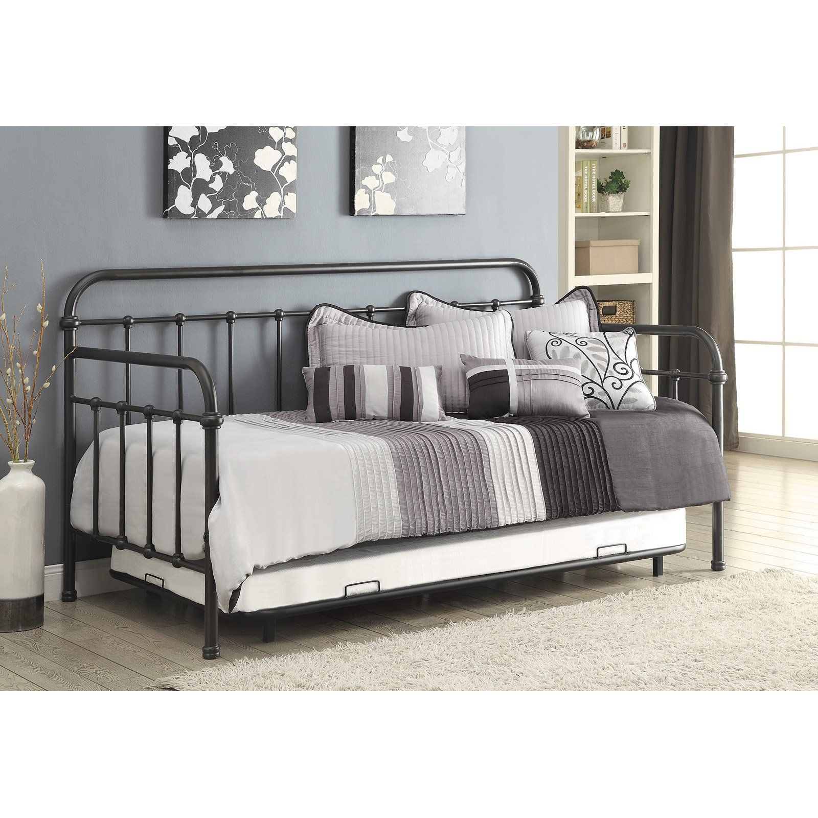 Coaster Furniture Twin Metal Daybed With Trundle Daybed With