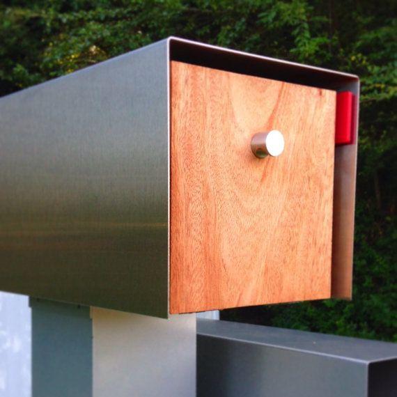 Large Modern Mailbox W Custom Address By Nashvilledesignlab House Ideas Briefkasten Hausnummern Briefkasten
