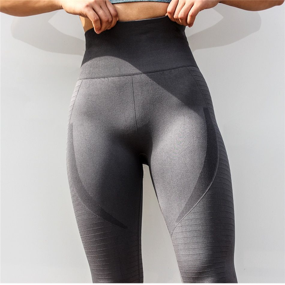 TrainingGirl High Waist Workout Yoga Leggings for Women Running Gym Fitness Pants Tummy Control Seamless Leggings Tights