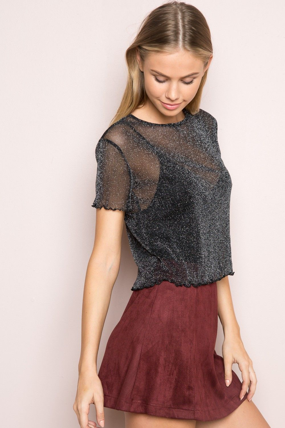 Brandy Melville Porter Glitter Top Clothing Glitter Tops Outfit High Tops Outfit
