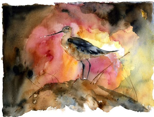 """Limited Edition Print Signed and Numbered (Click on the image to enlarge) 8.5"""" x 11"""" - ($100) 14"""" x 18"""" - ($130) (Original Painting: Watercolor on Paper - Sold)"""