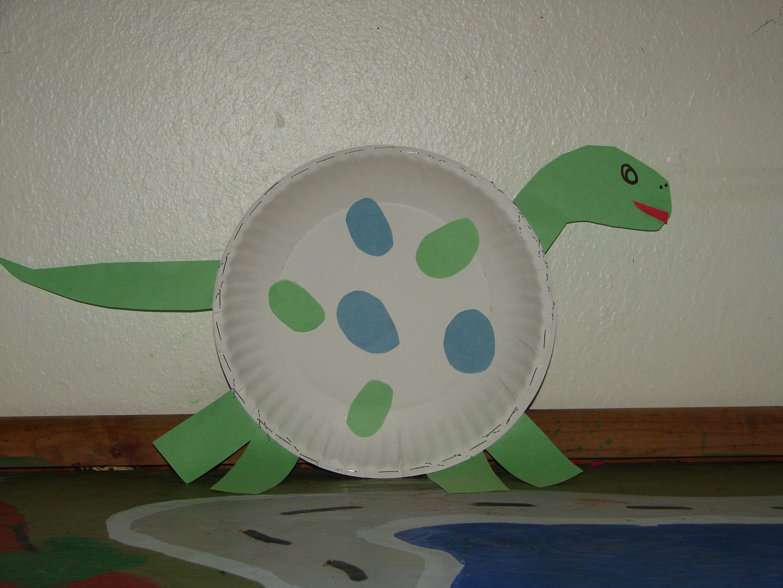 Paper plate crafts · CUTE dinosaur craft & CUTE dinosaur craft | paper craft | Pinterest | Dinosaur crafts ...