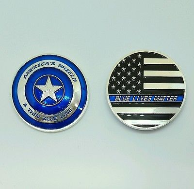Thin Blue Line Blue Lives Matter Police Challenge Coin, NYPD