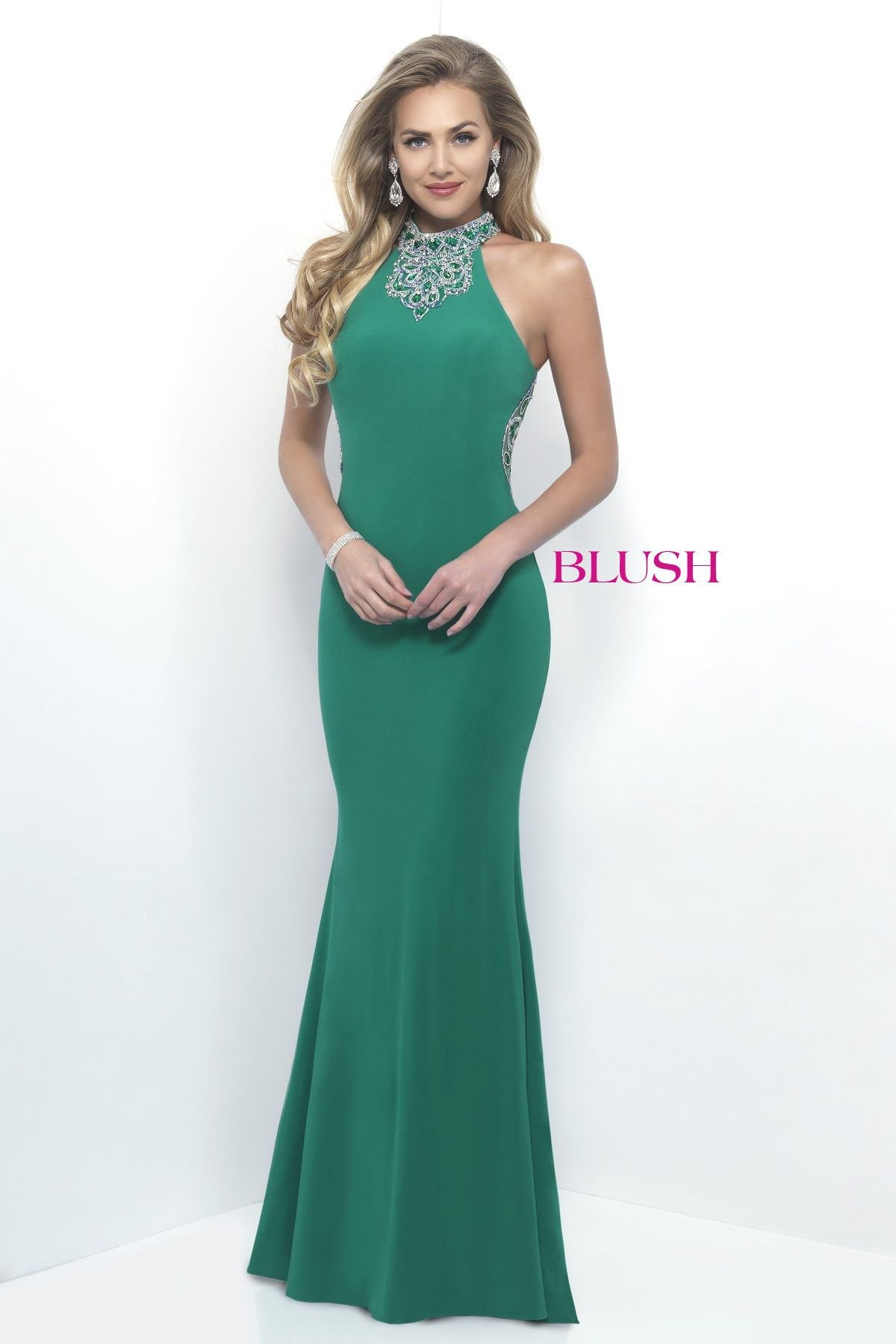 Blush Prom 11307 Emerald High Neckline Prom Dress | Products ...