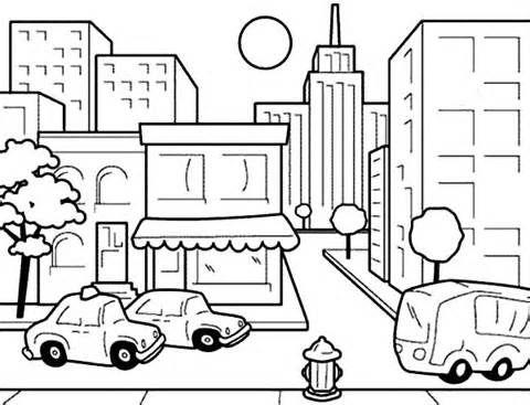 Dibujos Urbanos Para Colorear Buscar Con Google Dibujo Urbano Paisaje Urbano Medio Urbano