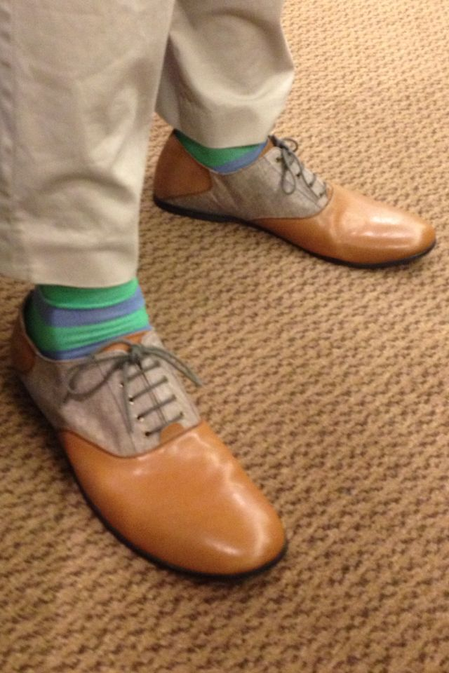 Sales Guy In English Laundry Stripe Socks Urban Outfitter Shoes