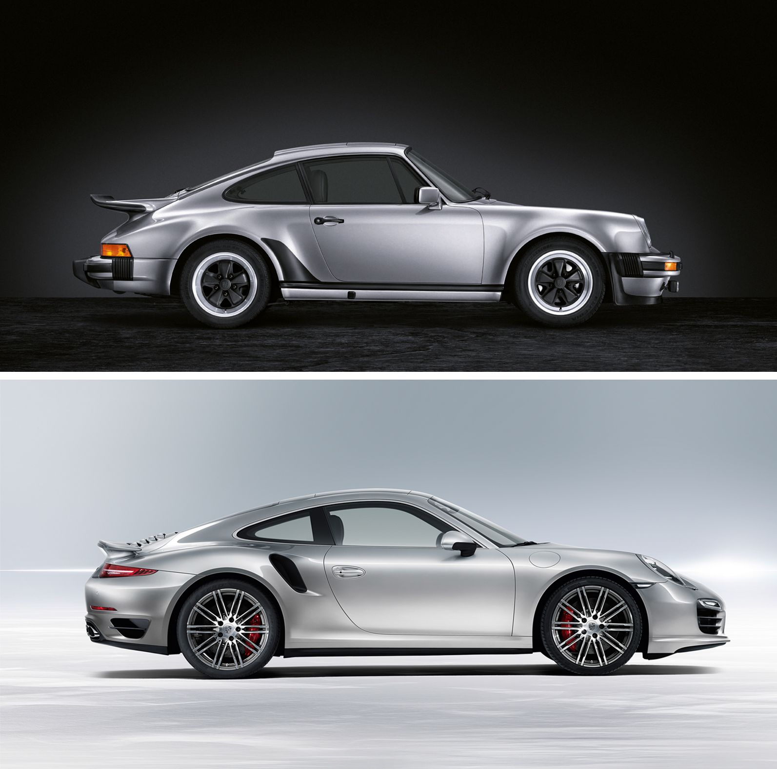 An unmistakable silhouette combined with benchmark-setting performance since 1974. The #911Turbo   *Combined fuel consumption in accordance with EU 5: 9.7l/100km; CO2 emission: 227g/km