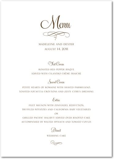 Having A Menu Card Shows Your Consideration For Guests
