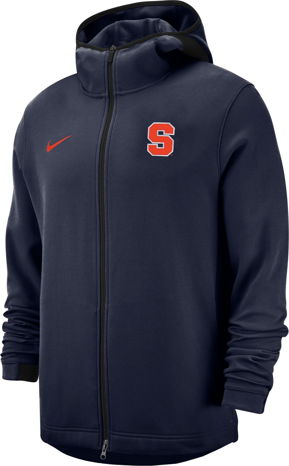 Nike Men S Syracuse Orange Navy Dri Fit Showtime Full Zip