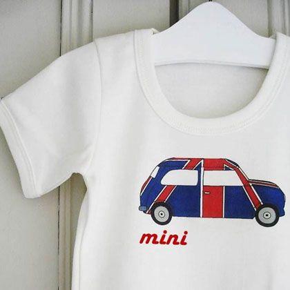 Mini Cooper Onesie Since I Gave My First Baby Up For Adoption The Very Least Second And Third Babies Can Do Is Where His Photo On Their Chests