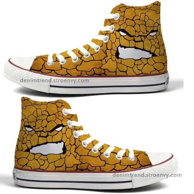 c76cc20225b9 Marvel Custom Converse -The Thing! Hand painted custom shoes for every  fandom