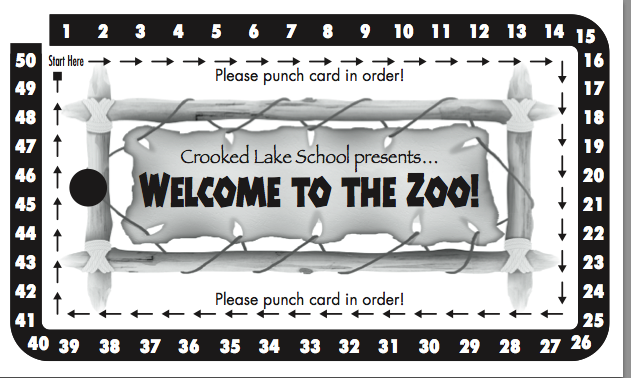 Carnival Punch Card School Carnival Punch Cards School Carnival Prizes