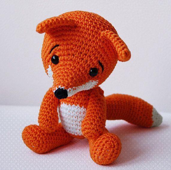 Amigurumi Crochet Fox Pattern Lisa The Fox Softie Plush