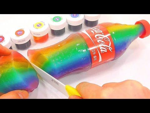 Diy how to make colors toilet slime water balloons poop learn how to make rainbow coca cola drinking water pudding jelly learn the rec ccuart Images
