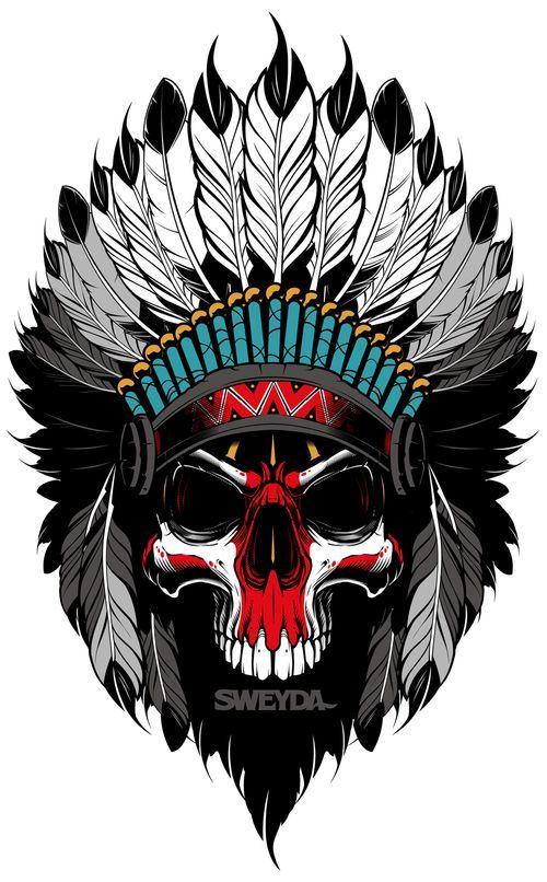 Vector indian, vector illustration, vector skull, sweyda.jpg   mis ...