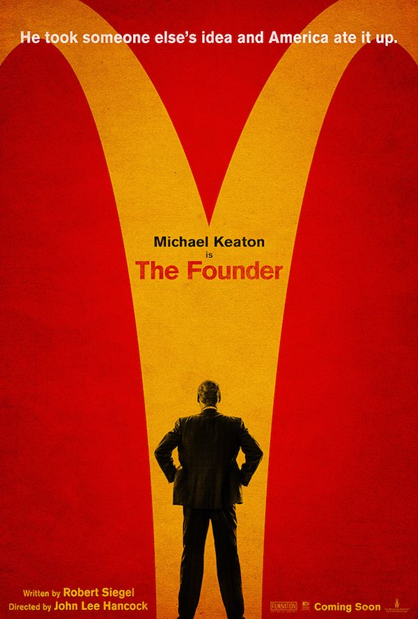Over a year ago I read the script of The Founder, the story of how Ray Croc essentially hijacked the idea of McDonald's from the McDonald brothers and turned it into the fast food empire we know it to