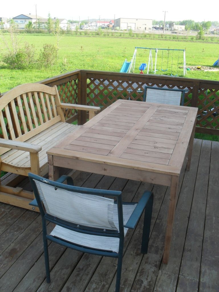 Modified simple outdoor dining table do it yourself home projects modified simple outdoor dining table do it yourself home projects from ana white solutioingenieria Choice Image
