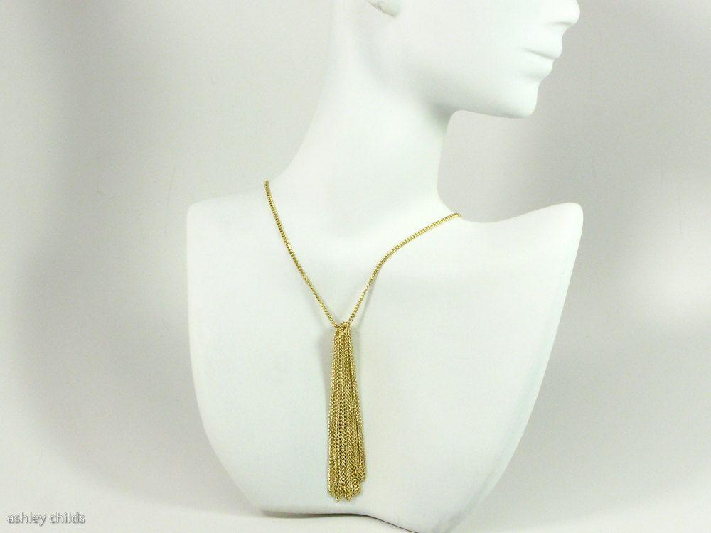 Image of Fine, 14ktgf Chain Fringe Pendant Necklace, AC0248 by Ashley Childs, $65 ashleychilds.bigcartel.com or ashleychilds.etsy.com