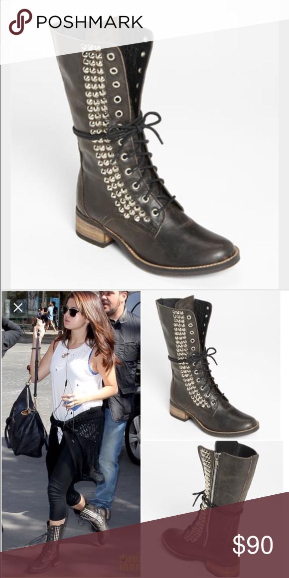 942e5533c67 Steve Madden tropador black boot Leather, tall boot, black, studded ...