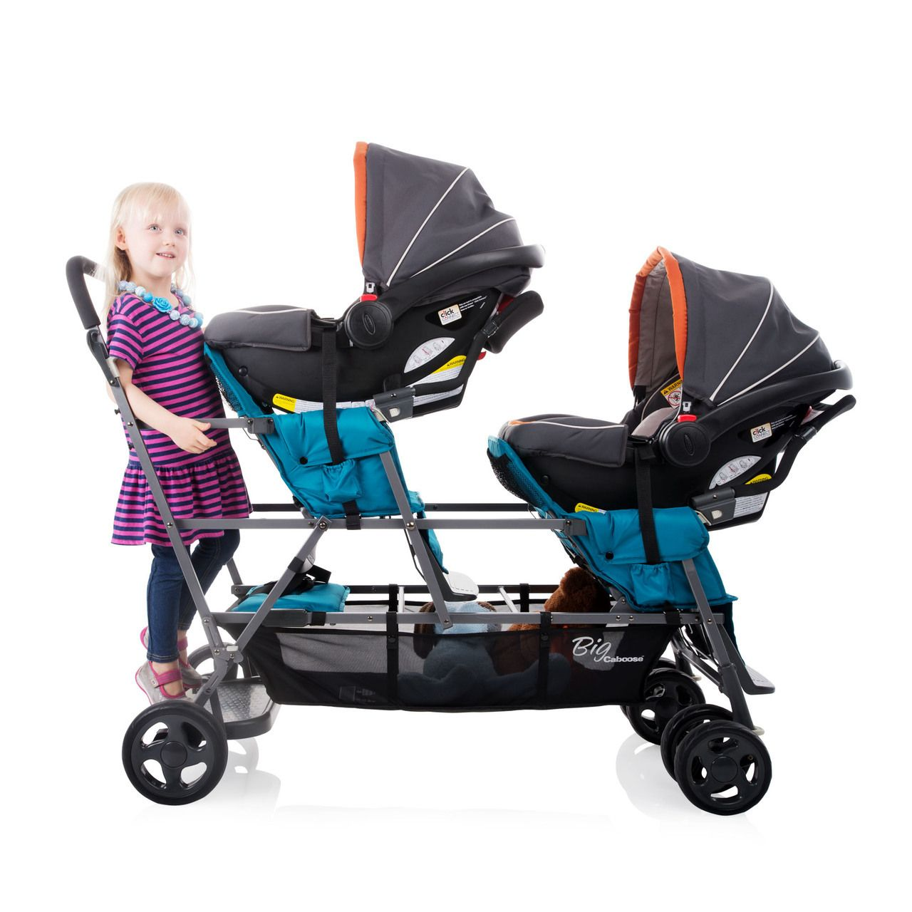 Big Caboose Sit and Stand Triple Stroller Baby strollers