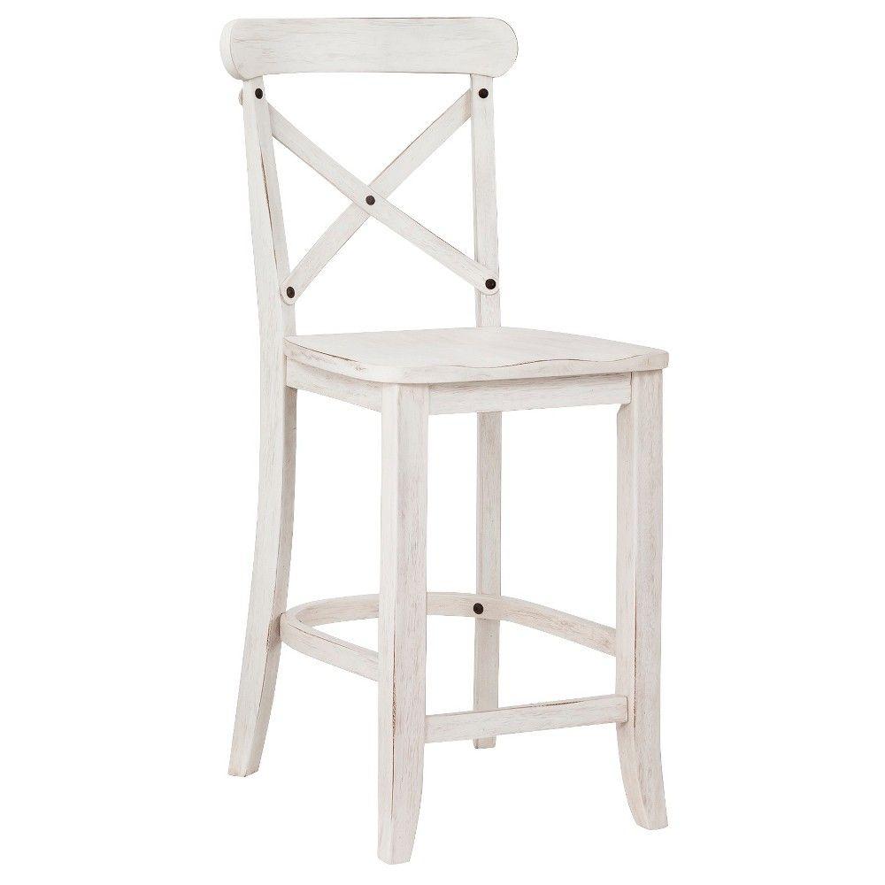 harvester xback 24 counter stool white beekman farmhouse