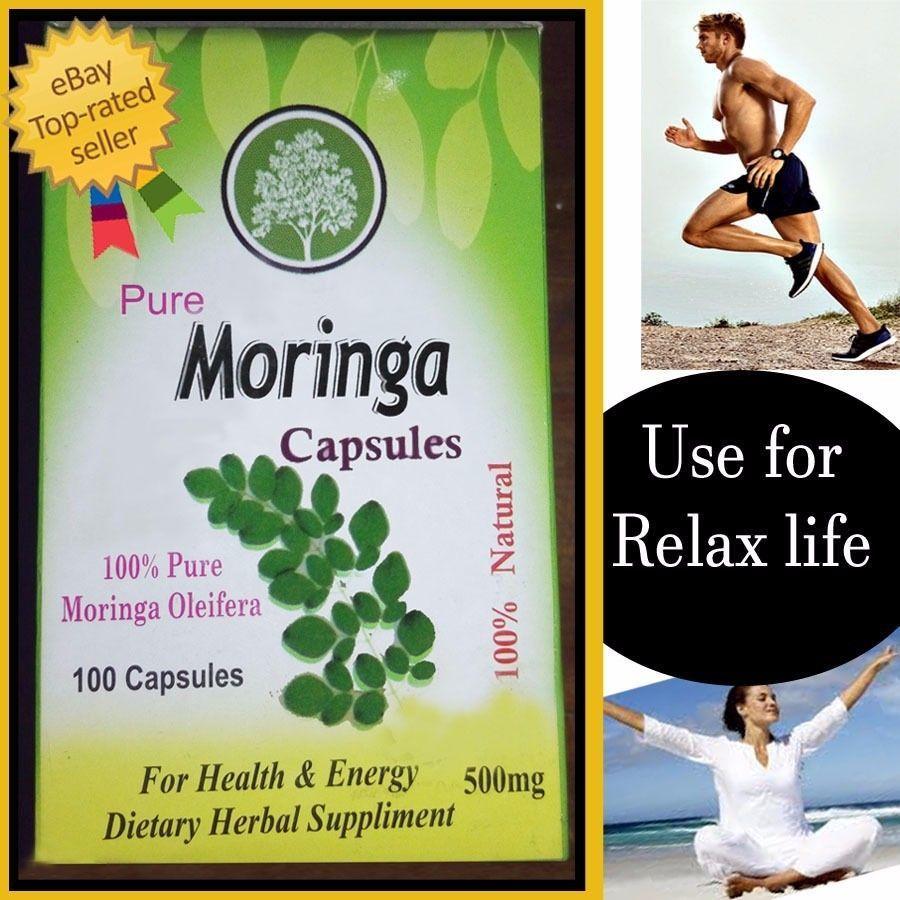 Cheap herbal supplement - Pure Moringa Capsules Health Energy Dietary Herbal Supplement 500mg