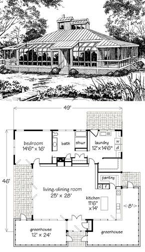 This Plan Includes My Changes Original Linked At The Link Craftsman House Plans Cottage Floor Plans House Plans