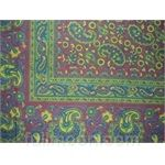Jaipur Paisley Tapestry-Tablecloth-Wall Hanging-Twin