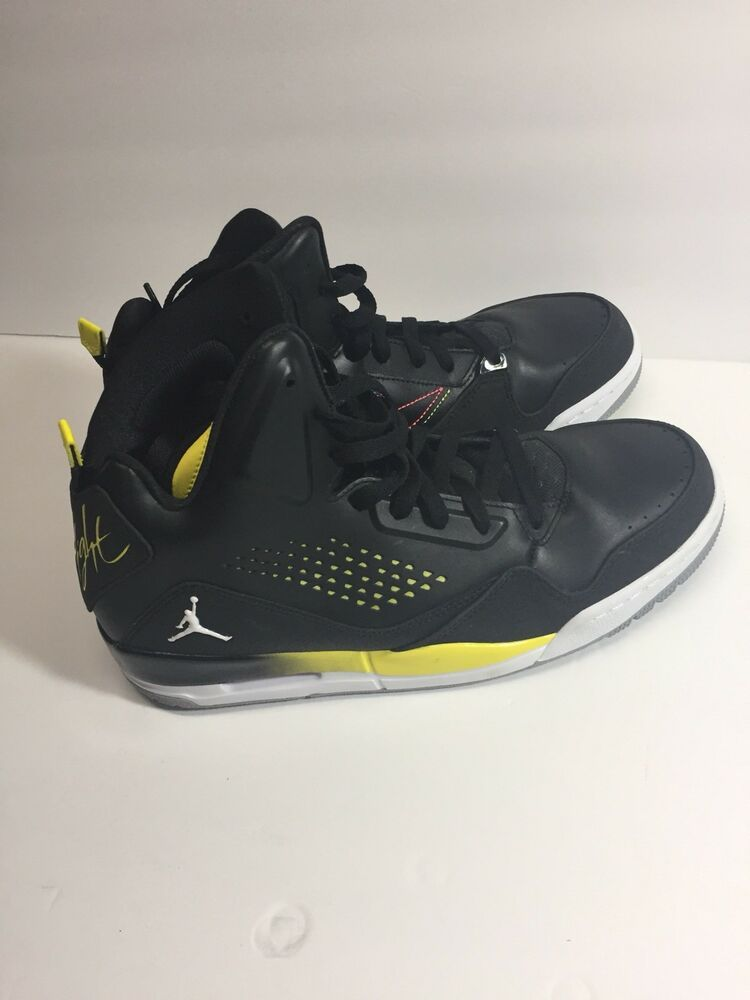 newest d5552 4b62d Mens Nike Air Jordan Flight Shoes Size 9.5 Black Yellow  fashion  clothing   shoes  accessories  mensshoes  athleticshoes (ebay link)
