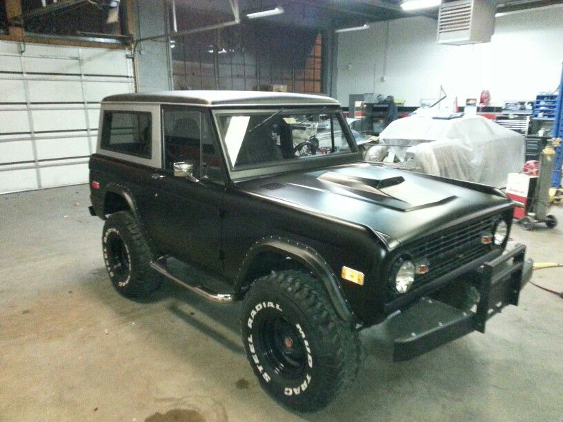 1967 Ford Bronco Completely Restored By Bluezcustomz Flat Black