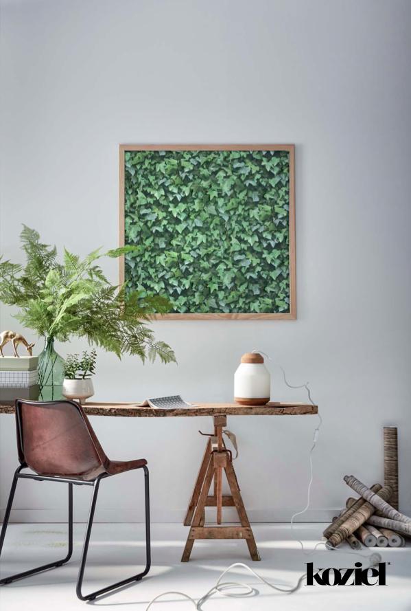 papier peint trompe l 39 oeil mur de lierre par koziel. Black Bedroom Furniture Sets. Home Design Ideas