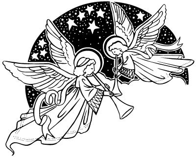 Singing christmas angels clipart kid | Angel clipart, Christmas angels, Clip art