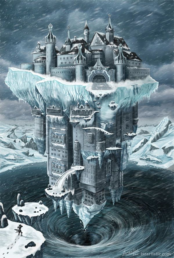 Fantasy Art Floating Castle