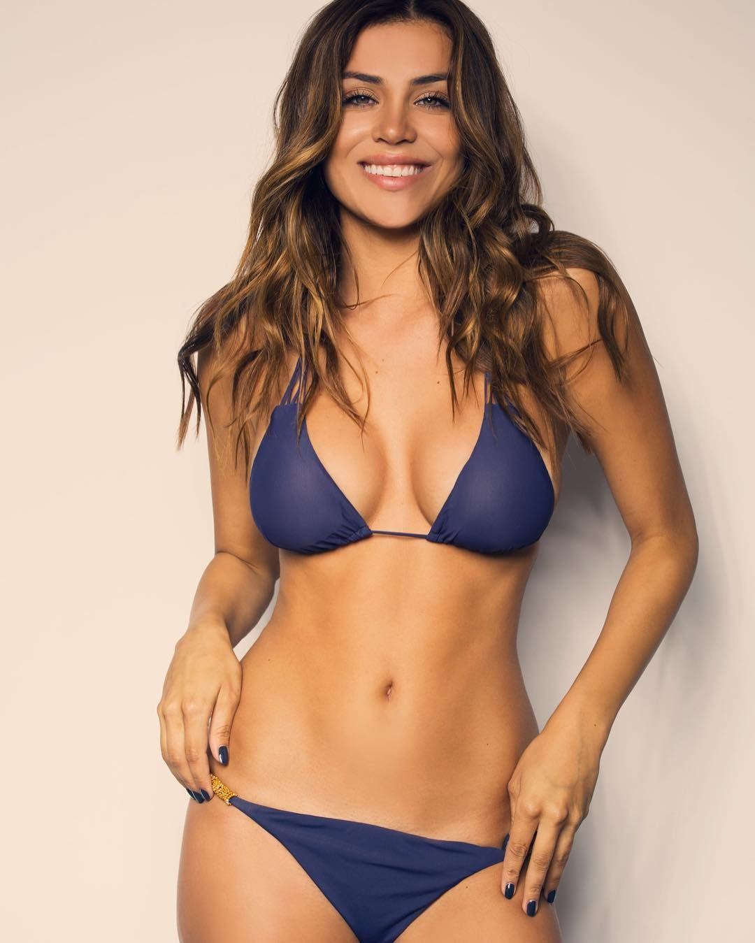 e5b8365e6ef78 Busty Andrea Veira in a blue bikini. Hottest bikini babes. Sexy women in  bikinis