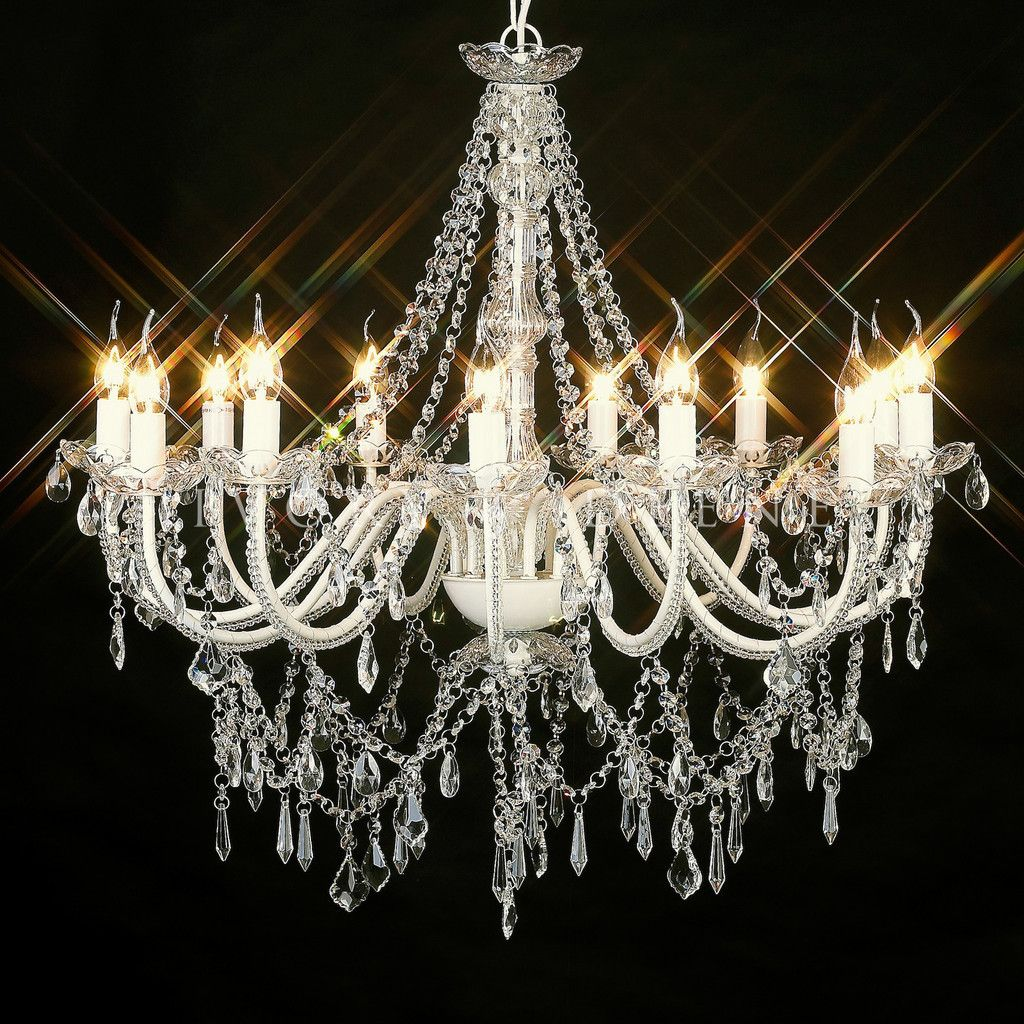 Cassie French Provincial 12 Arm Acrylic Chandelier With Images