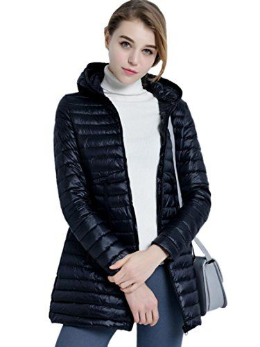 Black womens coat with hood