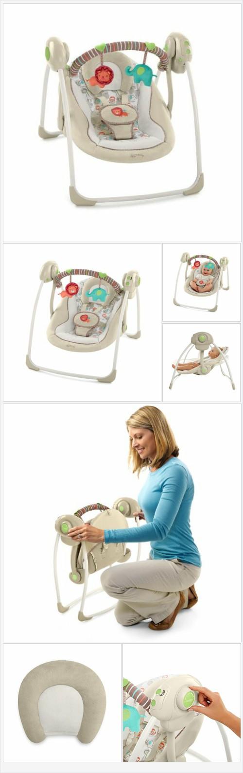 Comfort & Harmony Cozy Kingdom Portable Swing Every