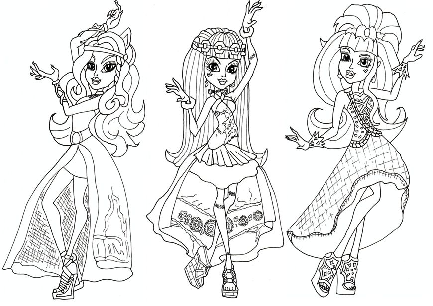 Monster High Printable Coloring Pages Monster High Coloring Pages Az ...