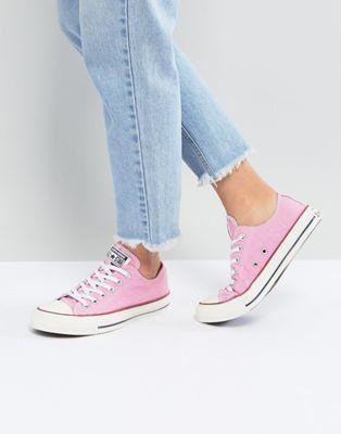 Zapatillas de deporte de satén rosa Chuck Taylor Ox de Converse Converse FpAyj2cw8