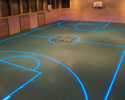 Changeable Led Gym Floor Boundary Lines By Asb Indoor Basketball Court Sport Court Sports