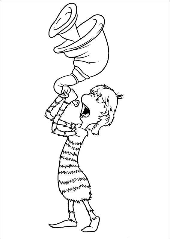 Dibujos para Colorear Horton 7 | Dr. Seuss | Pinterest