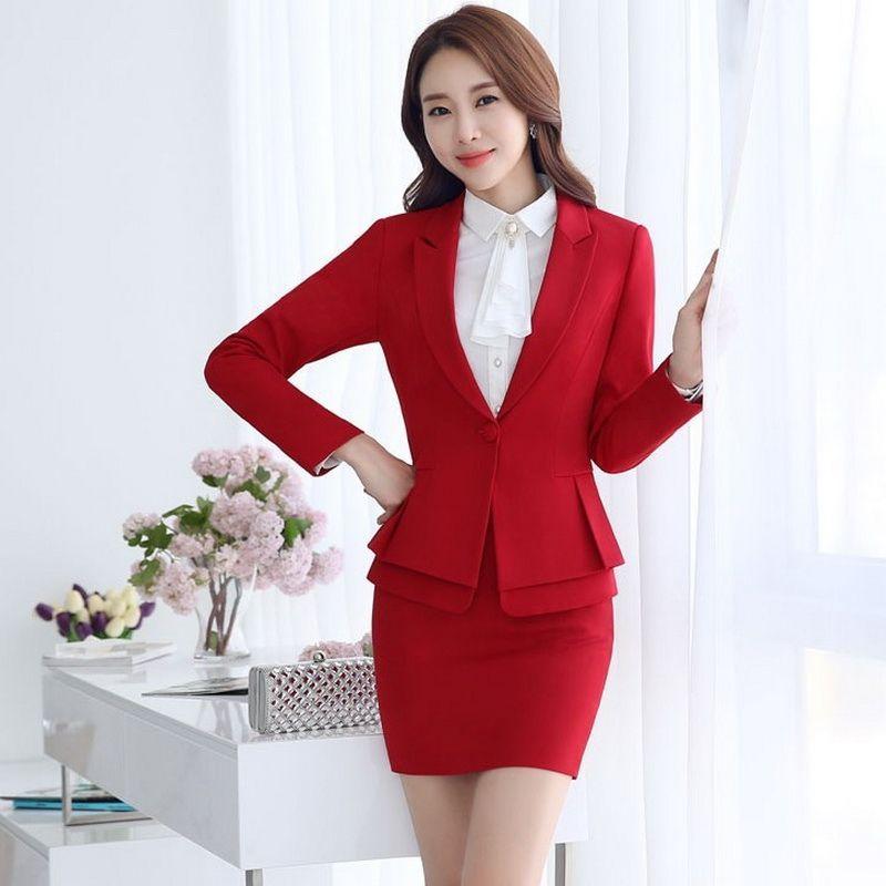 66f6371ef Formal Ladies Office Skirt Suit 2016 Office Uniform Designs Women ...