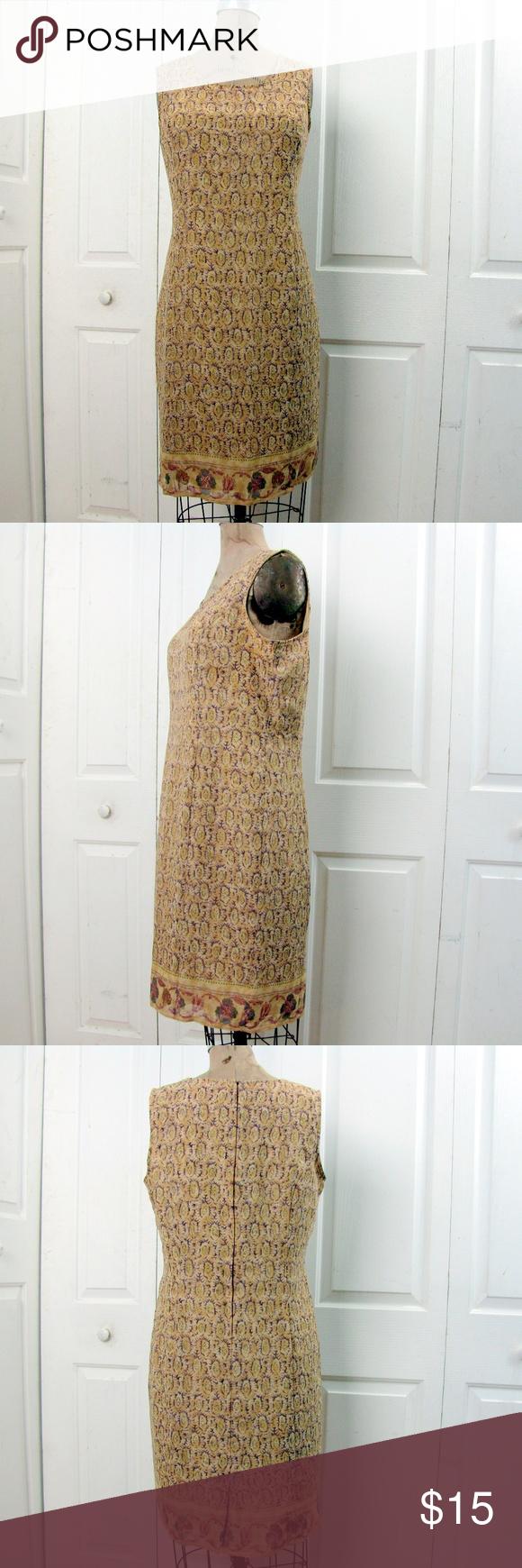 Sag Harbor Summer Shift Tan Dress Large Tan Dresses Clothes Design Sag Harbor Dress [ 1740 x 580 Pixel ]