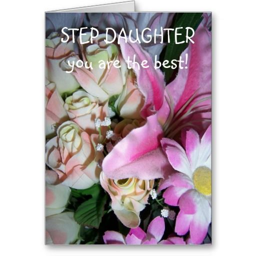 Happy Birthday Card For A Step Daughter Flowers Stepdaughter