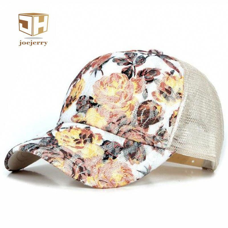 59245fb5d10 New Girls Lace Baseball Cap Floral Summer Caps Polyester Mesh Sun Hats For  Women Golf Running Climbing Fitted  RunningGear