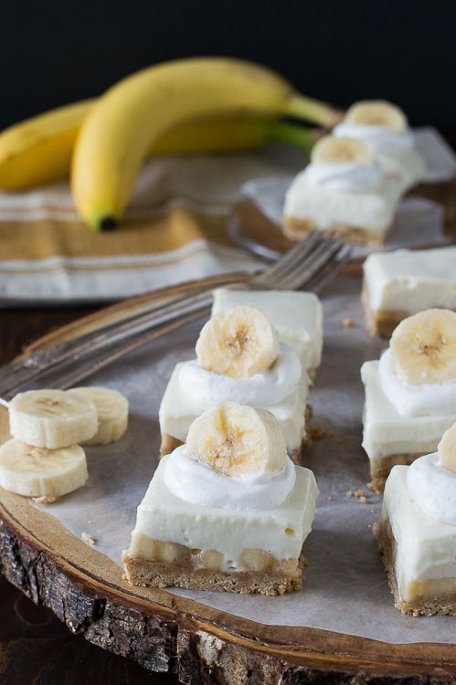 Banana Cream Bars - these are easy to make and creamy with bananas, cream cheese filling and a hint of lemon!
