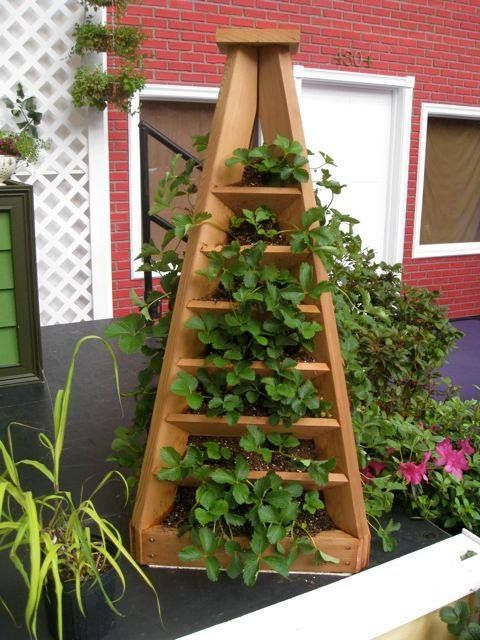 The Perfect DIY Vertical Garden Pyramid Planter