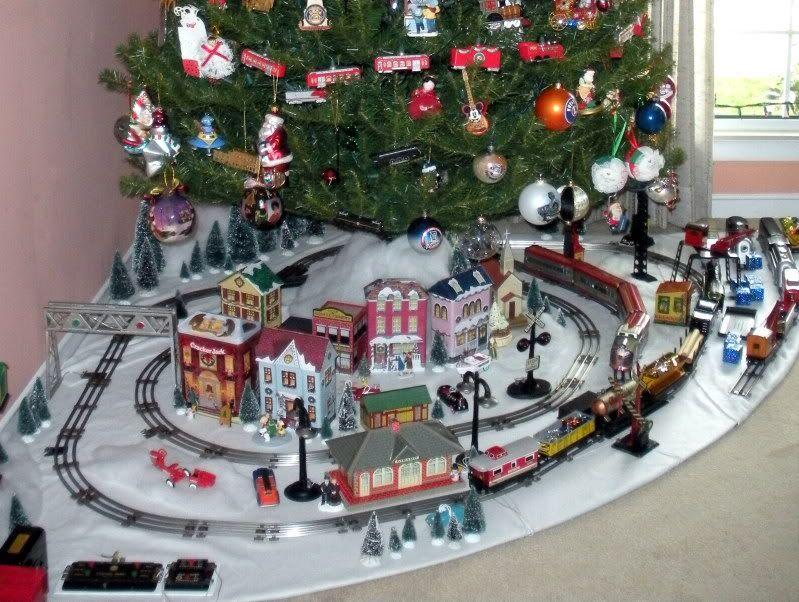 lionel christmas train layout | My Marx 027 tinplate Christmas layout - Toy  train operating and . - Lionel Christmas Train Layout My Marx 027 Tinplate Christmas